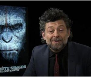 Andy Serkis en promo à Paris pour La Plnète des singes : l'affrontement, le 25 avril 2014