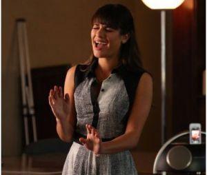 Glee saison 5, épisode 18 : Rachel (Lea Michele) sur une photo