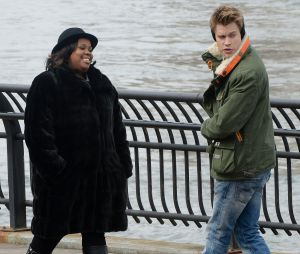 Glee saison 5 : tournage à New York entre Chord Overstreet et Amber Riley
