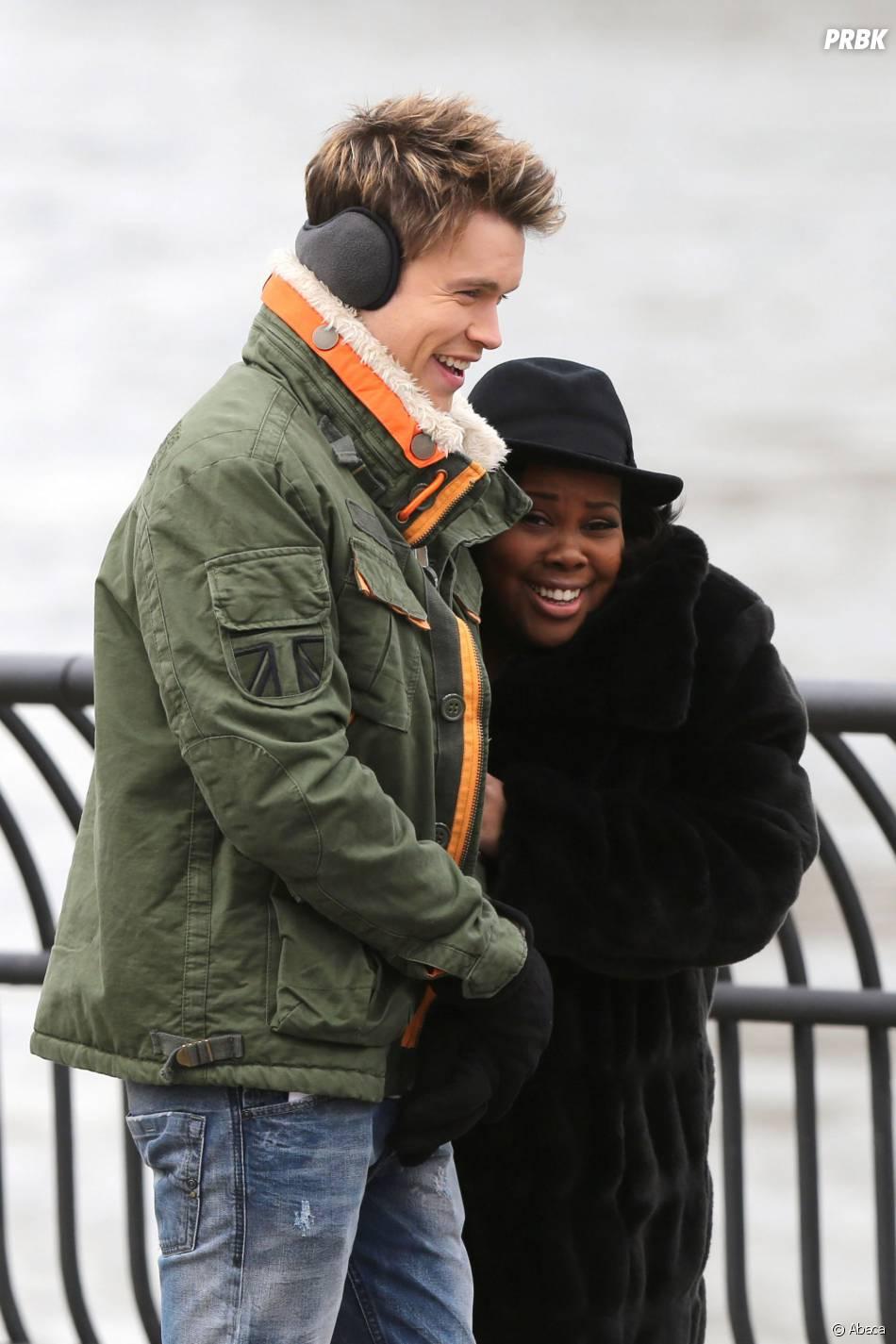 Glee saison 5 :  Chord Overstreet et Amber Riley en tournage à New York