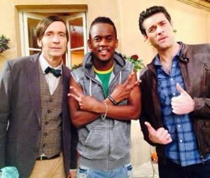 Black M, rappeur et acteur sur le tournage de la série Nos Chers Voisins pour TF1
