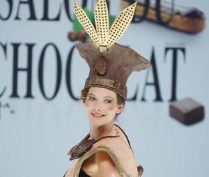 Elodie Varlet défile au Salon du chocolat 2012