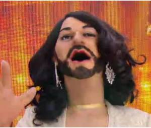 Conchita Wurst dans les Guignols de l'info, le 14 mai 2014 (vers 4'40mn)