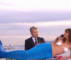 Doria Tillier en sirène presque nue et ultra sexy pour sa météo dans le Grand Journal du 16 mai 2014
