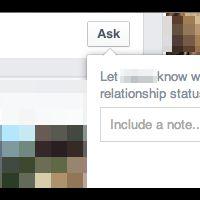 """Facebook : un nouveau bouton """"Ask"""" pour parler de sa situation amoureuse"""