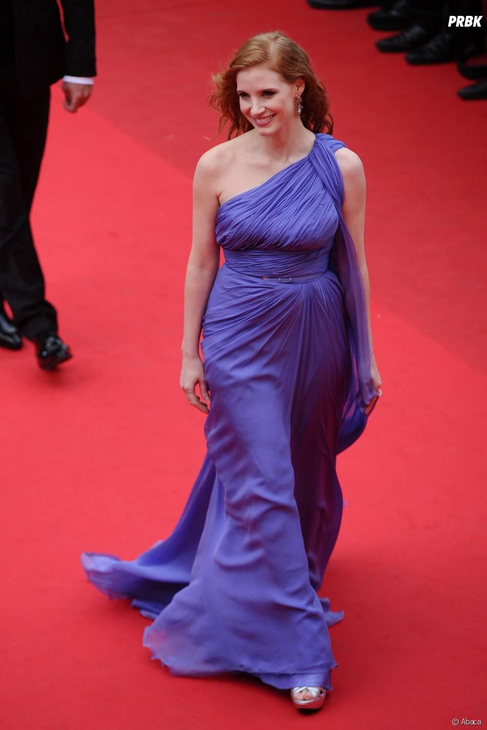 Jessica Chastain sublime à Cannes, le 19 mai 2014