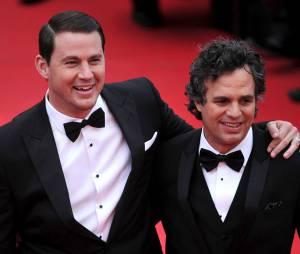 Channing Tatum et Mark Ruffalo complices pour la projection de Foxcatcher, le 19 mai 2014 au festival de Cannes