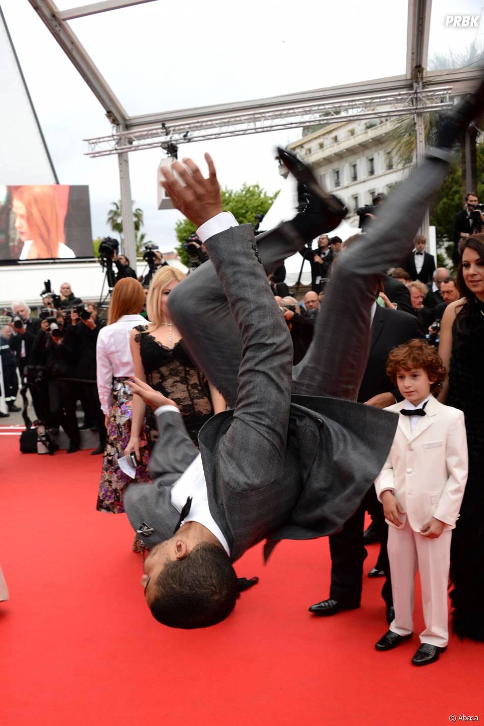 Brahim Zaibat en mode Danse avec les stars à Cannes, le 19 mai 2014