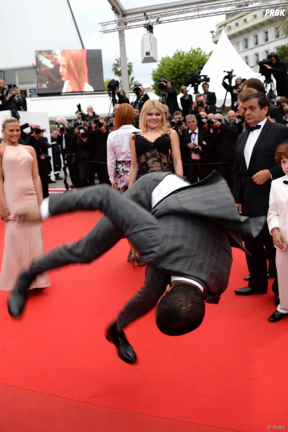Brahim Zaibat impressionnant sur le tapis rouge de Cannes, le 19 mai 2014