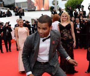 Brahim Zaibat showman sur le tapis rouge du festival de Cannes, le 19 mai 2014