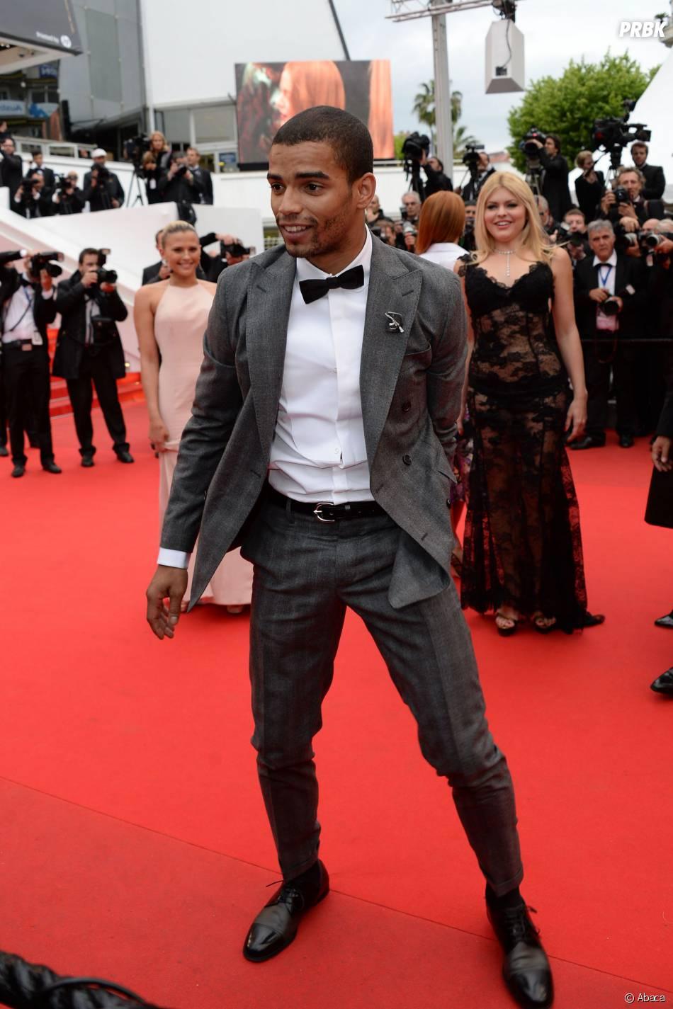 Brahim Zaibat sur le tapis rouge du festival de Cannes, le 19 mai 2014
