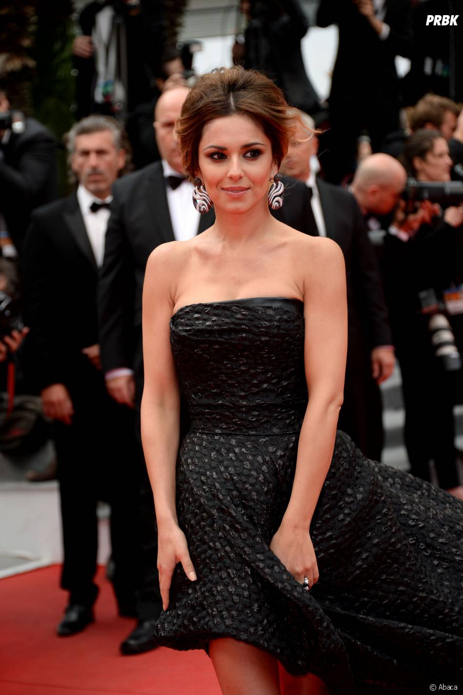 Cheryl Cole sublime en Saint Laurent sur le tapis rouge de Cannes, le 19 mai 2014