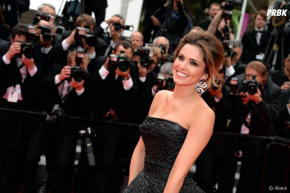 Cheryl Cole souriante sur la Croisette, le 19 mai 2014 à Cannes