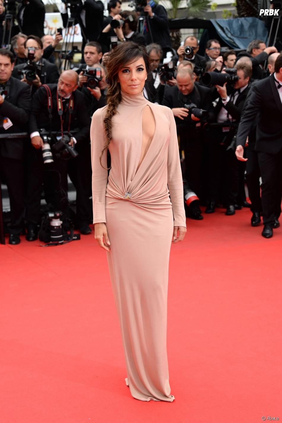 Eva Longoria sexy et glamour, le 19 mai 2014 au festival de Cannes