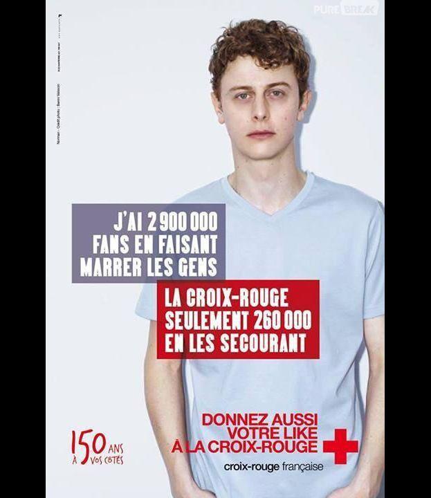Norman Thavaud et ses millions de fans pour la Croix-Rouge française