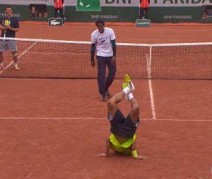 Gaël Monfils : battle de danse à Roland Garros 2014