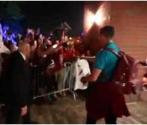 Cristiano Ronaldo : cris pour son arrivée dans le New Jersey, le 3 juin 2014