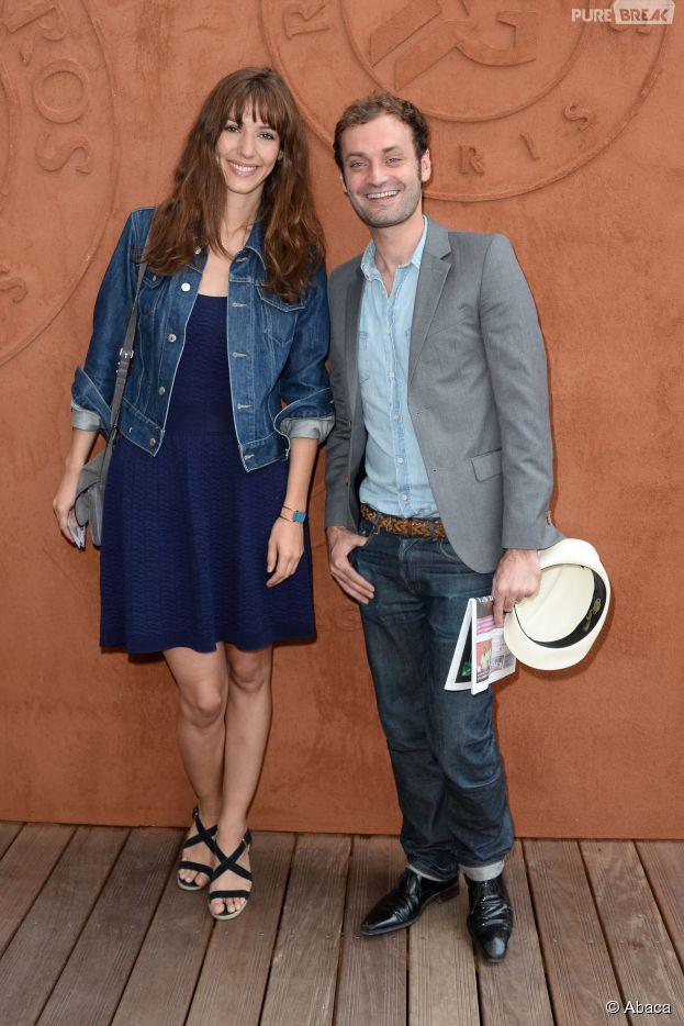 Doria Tillier et Augustin Trapenard au quartier VIP de Roland Garros, le 7 juin 2014