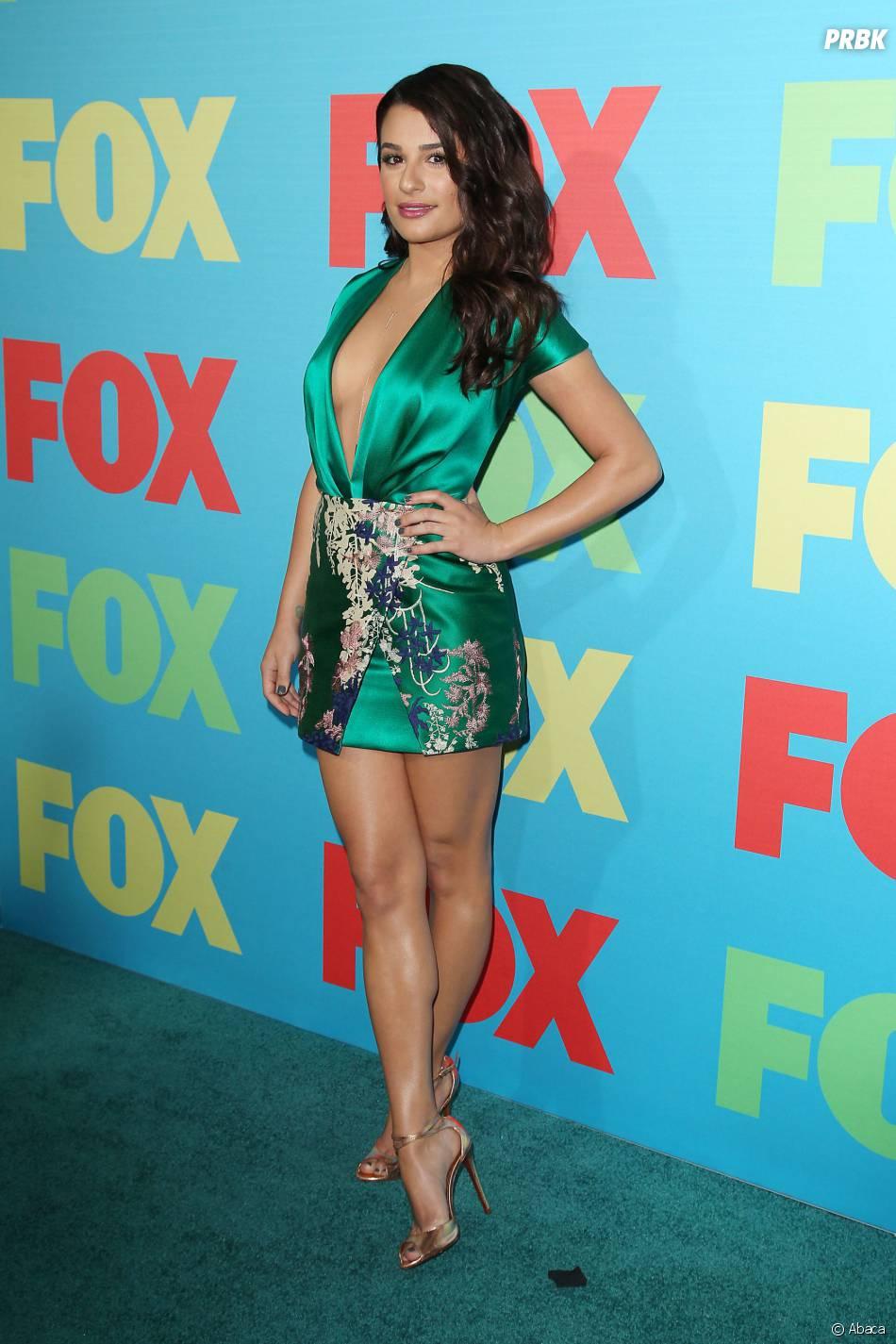 Lea Michele sexy et décolletée pour une soirée FOX