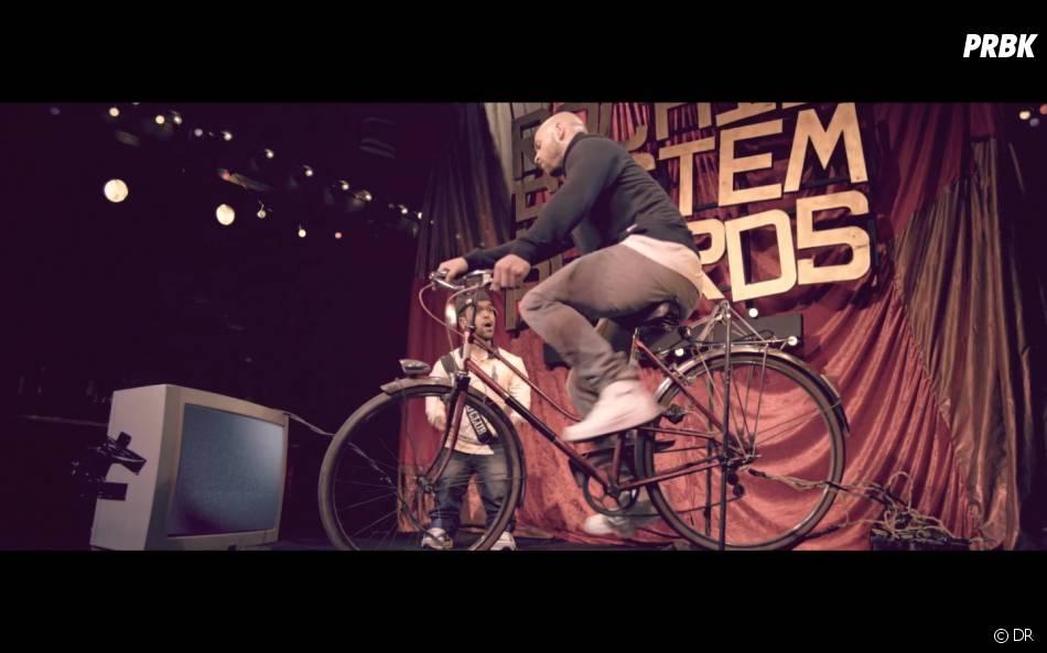 Franck Gastambide et Anouar Toubali dans le clip Rachid System Awards de Rim'K