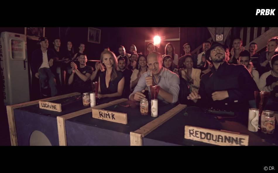 Rim'K, Ludivine et Redouanne Harjane jouent les jurés dans le clip Rachid System Awards