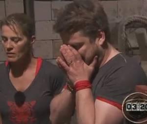 Bruno Guillon effrayé dans Fort Boyard, le 5 juillet 2014
