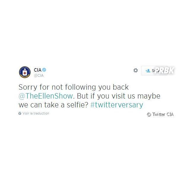 La CIA répond à Ellen DeGeneres sur Twitter