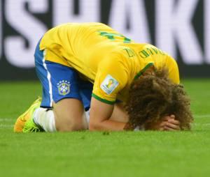 David Luiz sous le choc après Brésil VS Allemagne, le 8 juillet 2014