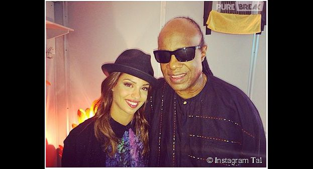 Tal et Stevie Wonder en photo sur Instagram, en juillet 2014