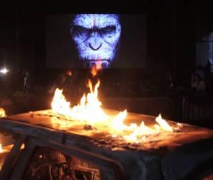 La Planète des singes - l'affrontement : photo de la projection événement à La Courneuve