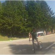 Tour de France 2014 : un cycliste français s'énerve contre un spectateur