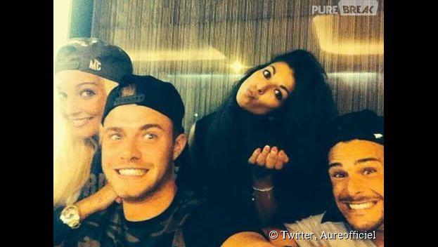 Aurélie Dotremont : selfie avc Serena Fae et Giuseppe sur le tournage de L'île des vérités 4