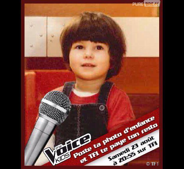 Karine Ferri enfant pour la promo de The Voice Kids
