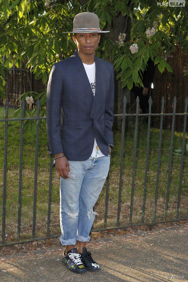 Pharrell Williams au classement des stars les mieux habillées de 2014 selon Vanity Fair