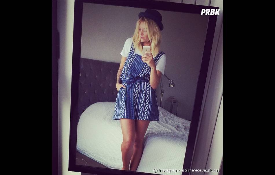 Caroline Receveur sexy sur Instagram le 6 août 2014