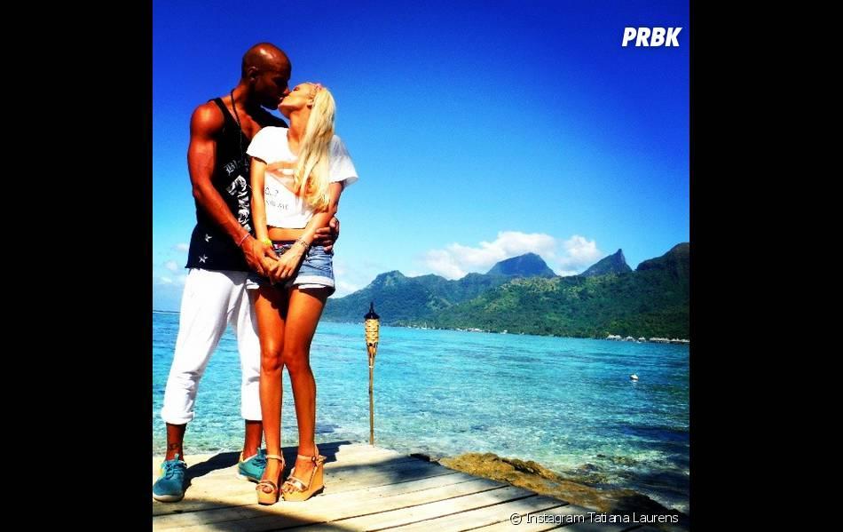 Tatiana Laurens et Xavie Delarue à Tahiti pour l'île des vérités 4