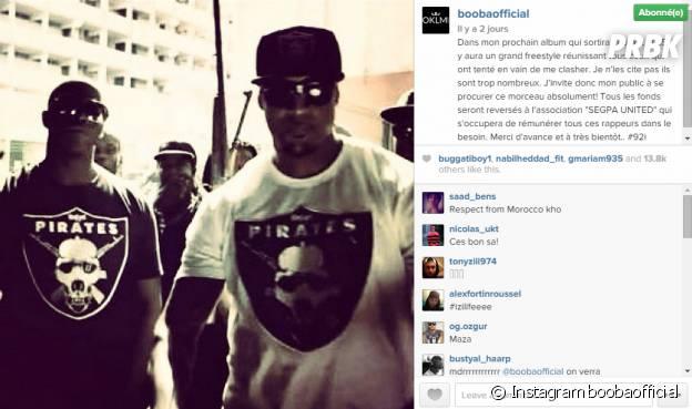 Booba clashe ses détracteurs sur Instagram