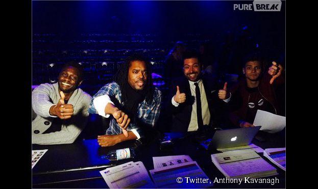 Corneille, Anthony Kavanagh, Rayane Bensetti et Chris Marques dans les coulisses du premier prime de Danse avec les Stars 5