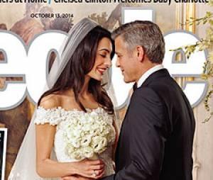 George Clooney et Amal Alamuddin : leur photo de mariage en Une de People