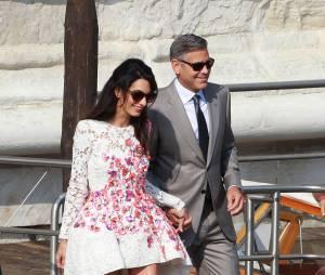 George Clooney et Amal Alamuddin à Venise pour leur mariage
