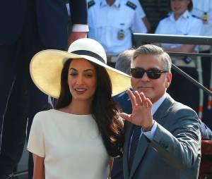 George Clooney et Amal Alamuddin : heureux à Venise après leur mariage, le 29 septembre 2014
