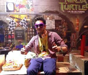 Kemar à l'avant-première de Ninja Turtles le 29 septembre 2014
