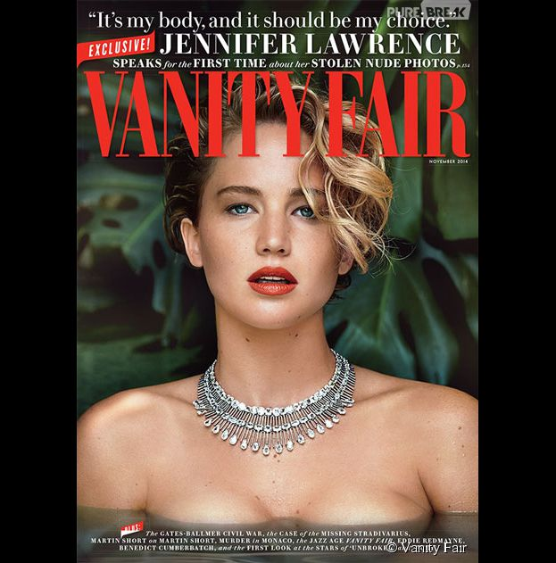 Jennifer Lawrence : topless dans Vanity Fair, elle parle de ses photos nues en couverture de l'édition de novembre 2014