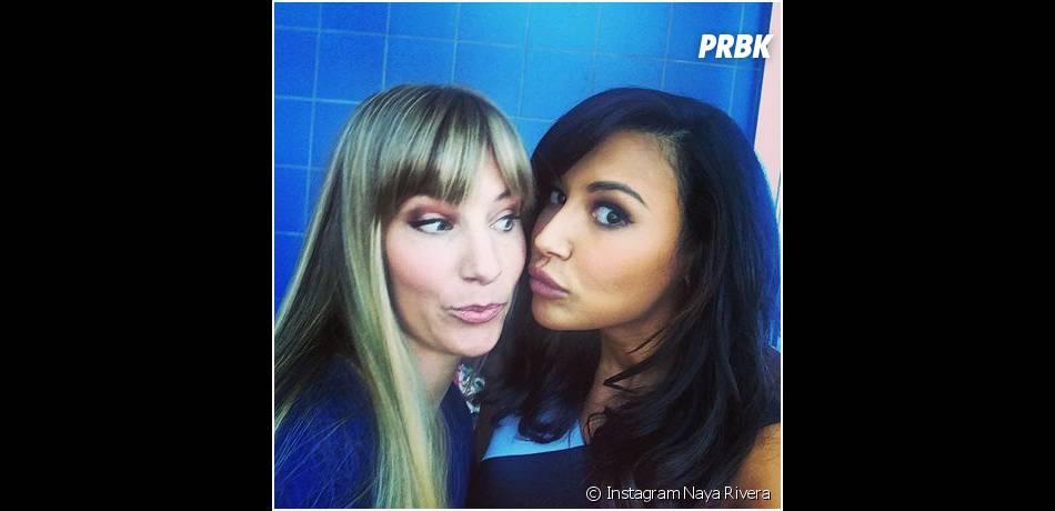 Naya Rivera et Heather Morris sur le tournage de Glee saison 6