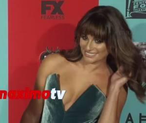 Lea Michele se prend un vent par Jessica Lange