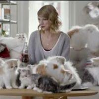Taylor Swift et sa chatte Olivia dans la pub délirante de Coca Light