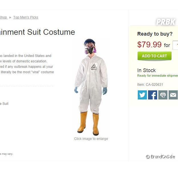 Ebola : un costume anti-contamination Ebola à vendre pour Halloween
