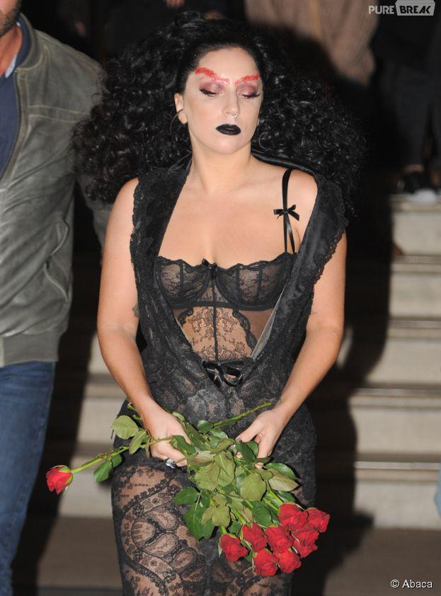 Lady Gaga très transparente à Londres, le 22 octobre 2014