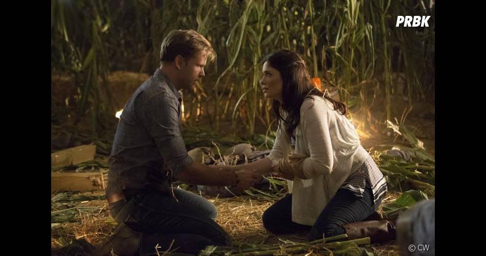 The Vampire Diaries saison 6, épisode 5 : Matt Davis et Jodi Lyn O'Keefe sur une photo