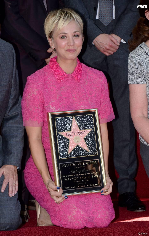 Kaley Cuoco étoilée sur le Walk of Fame le 29 octobre 2014